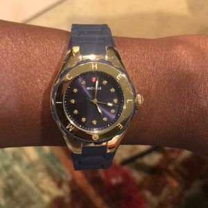 Michelle Navy Blue and Gold Watch